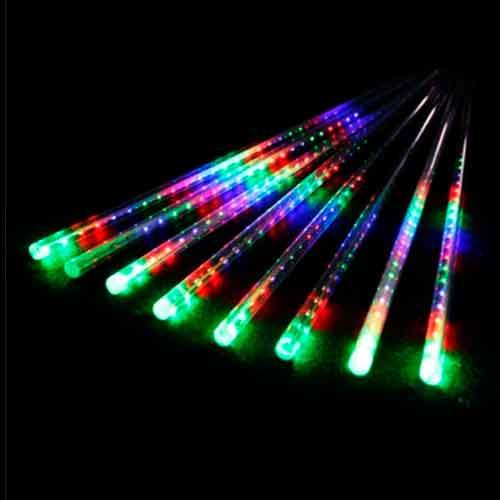 Luz de Natal Snowfall LED 8 Tubos de 50CM Luz Colorido Bivolt  - RJE ILUMINAÇÃO