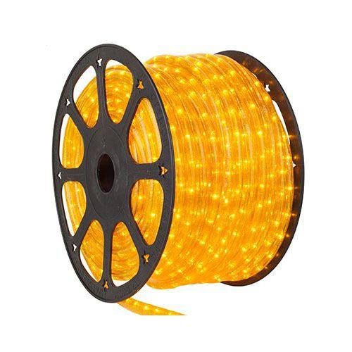 Luz de Natal Mangueira Luminosa Incandescente Amarelo Rolo 100MTS  - RJE ILUMINAÇÃO