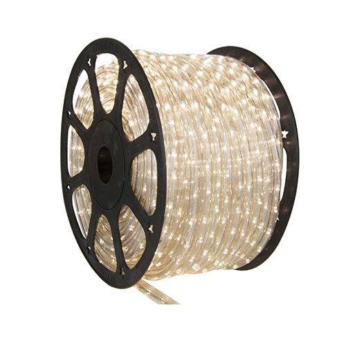 Luz de Natal Mangueira Luminosa Incandescente Branco Rolo 100MTS  - RJE ILUMINAÇÃO