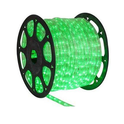 Luz de Natal Mangueira Luminosa Incandescente Verde Rolo 100MTS  - RJE ILUMINAÇÃO