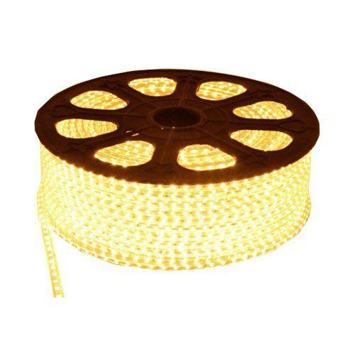 Luz de Natal Mangueira Luminosa LED SMD Branco Quente 5050 Rolo 100MTS  - RJE ILUMINAÇÃO