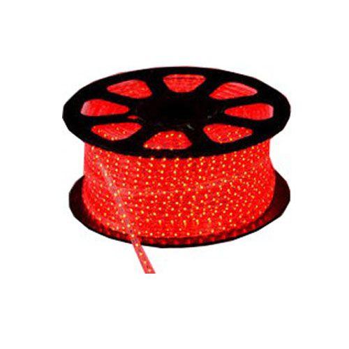 Mangueira LED 5050 Chata Vermelho Rolo 100MTS  - RJE ILUMINAÇÃO