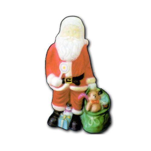 Presépio Natalino Decorativo de Jardim Papai Noel Médio Vermelho em Polietileno  - RJE ILUMINAÇÃO