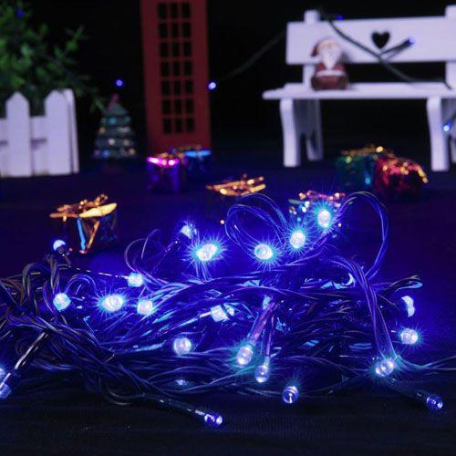 Pisca de Natal 100 LED Fixo Fio Verde Luz Azul 9,5 Metros Blindado  - RJE ILUMINAÇÃO