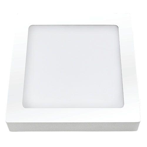 Plafon LED 12W Sobrepor Quadrado  - RJE ILUMINAÇÃO