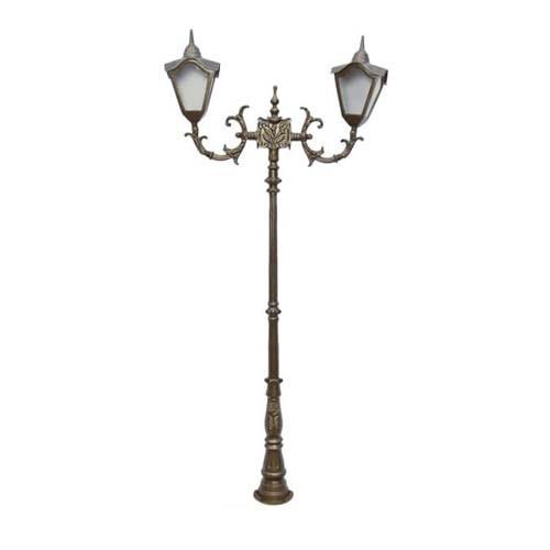 Poste Colonial Veneza com 2 Luminárias  - RJE ILUMINAÇÃO