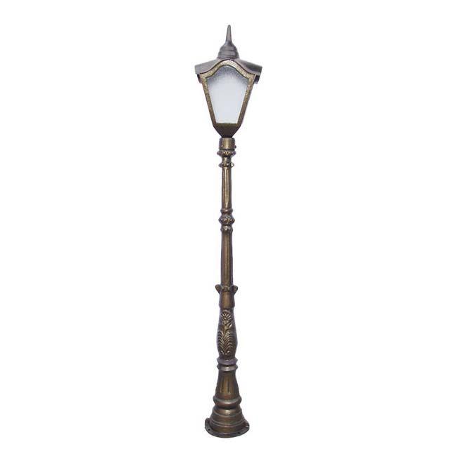 Poste Colonial Francês com 1 Luminária  - RJE ILUMINAÇÃO
