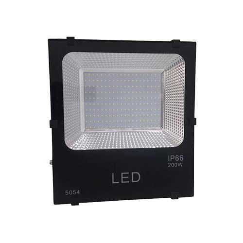 Refletor LED SMD 200W - Branco frio Preto  - RJE ILUMINAÇÃO