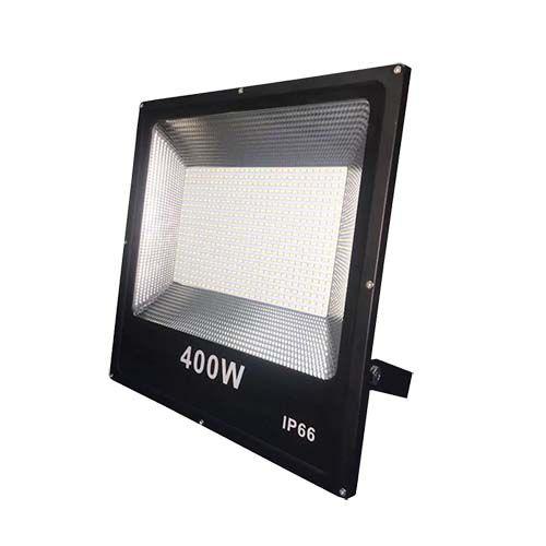 Refletor LED SMD 400W - Branco frio Preto  - RJE ILUMINAÇÃO