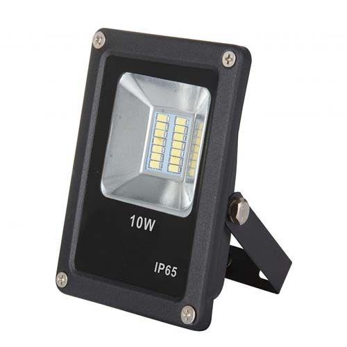 Refletor LED SMD 10W - Branco frio Preto  - RJE ILUMINAÇÃO