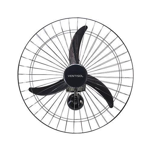 Ventilador Parede Oscilante 60CM Monovolt Preto - Premium   - RJE ILUMINAÇÃO