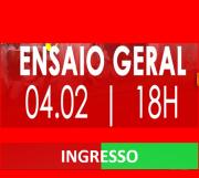 INGRESSOS - ENSAIO DE QUADRA  04-02-2018