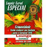 LOUNGE - ENSAIO GERAL 25/11 - APRESENTAÇÃO DAS FANTASIAS