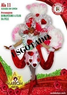ALA - 11 FANTASIA ROMANTISMO A FLOR DA PELE FEMININA  - Mocidade Alegre