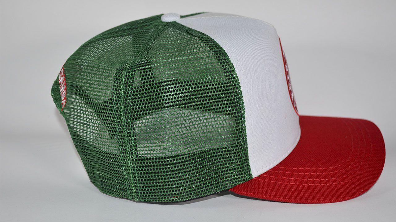 Boné verde vermelho  - Mocidade Alegre