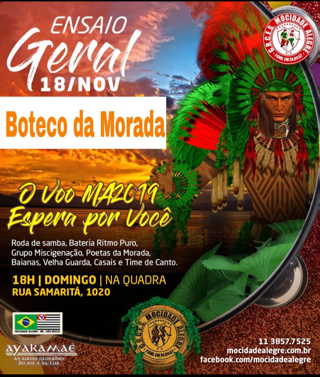 BOTECO - ENSAIO GERAL 18/11   - Mocidade Alegre
