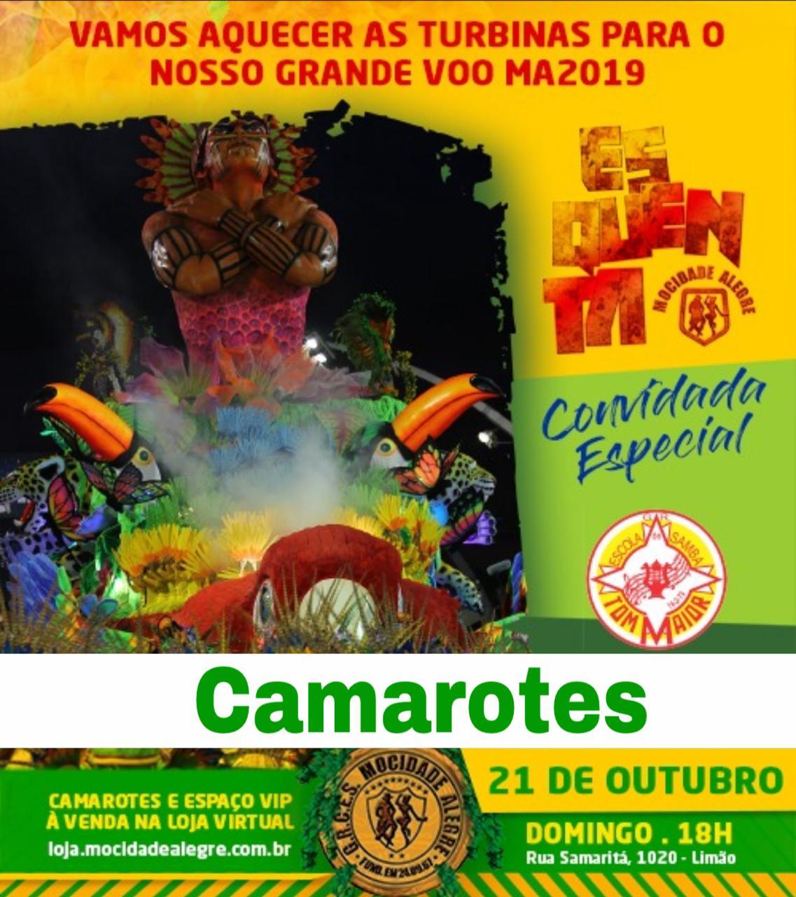 CAMAROTE 21/10 - ENSAIO ESQUENTA TOM MAIOR  - Mocidade Alegre
