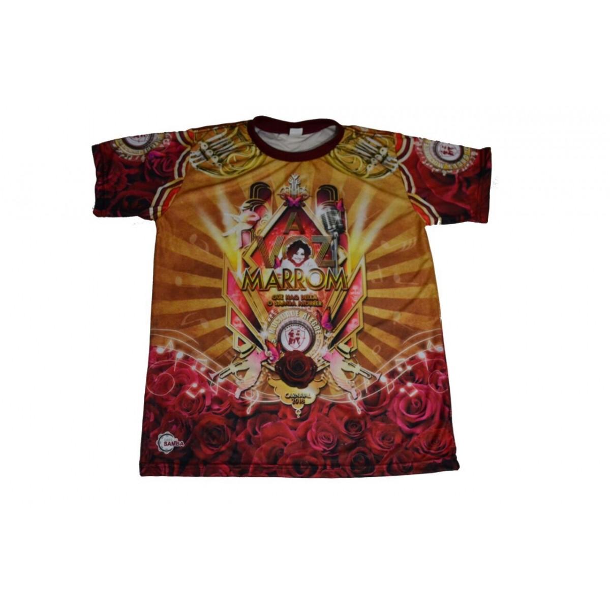 Camiseta Enredo 2018 - A Voz Marrom.....  - Mocidade Alegre