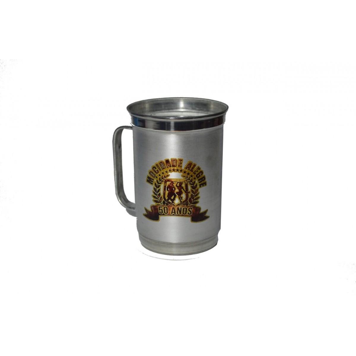 Caneca de alumínio - 500 ml   - Mocidade Alegre