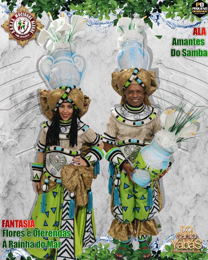 FANTASIA  FLORES & OFERENDDAS  - ALA 06  - Mocidade Alegre