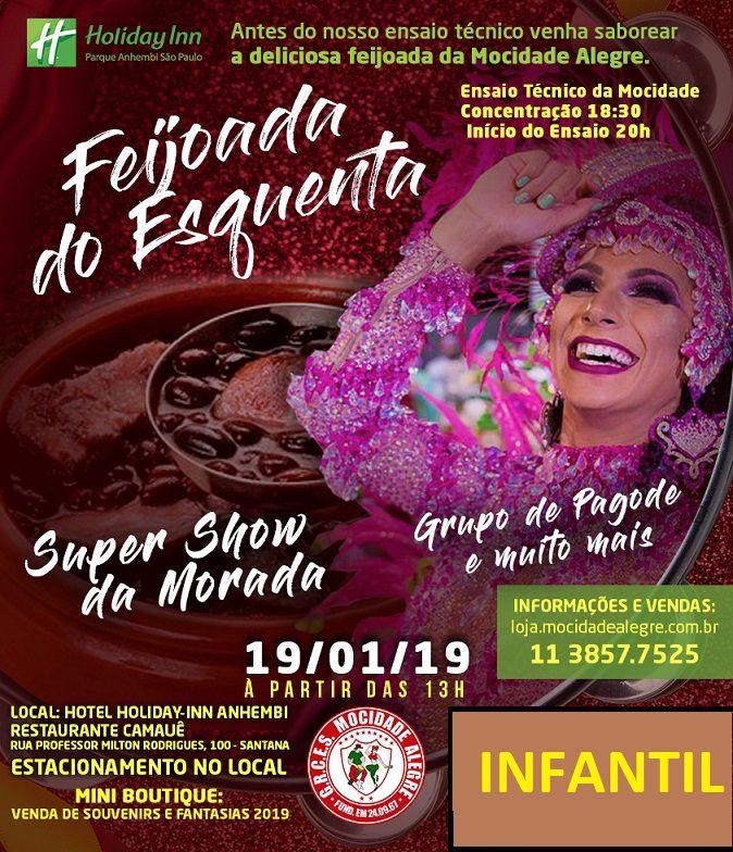 INFANTIL - FEIJOADA ESQUENTA  19/01/2019  - Mocidade Alegre