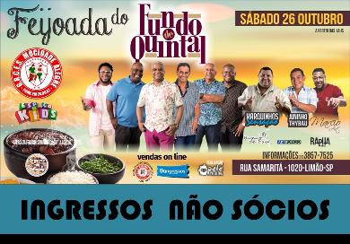 INGRESSOS NÃO SÓCIO - FEIJOADA FUNDO DE QUINTAL 26/10/2019  - Mocidade Alegre