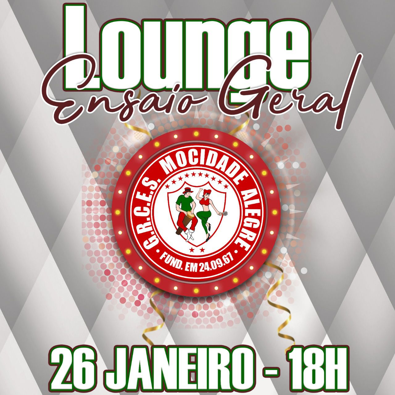 LOUNGE - 26-01-2020 - ENSAIO GERAL - CARNAVAL 2020  - Mocidade Alegre