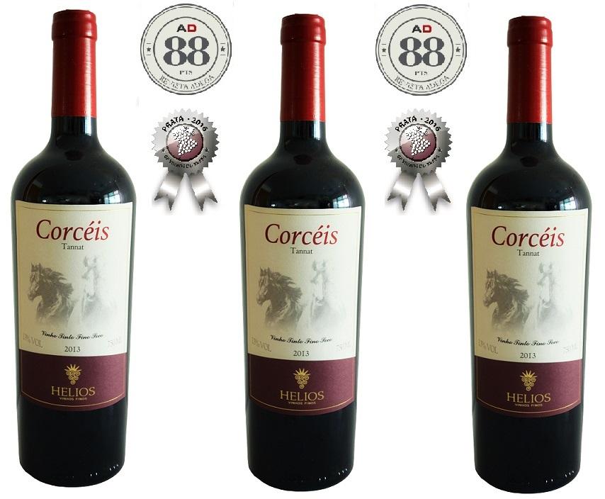 3 Garrafas: Corcéis - Corcéis - Corcéis - Safra 2013  - Vinícola Helios