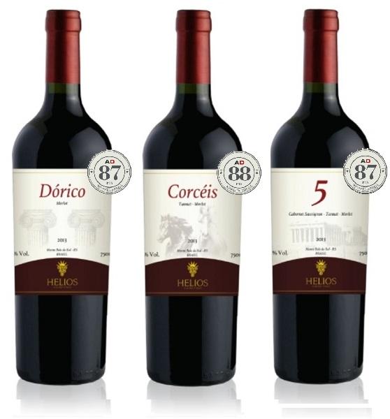3 Garrafas: Dórico - Corcéis - 5  - Vinícola Helios