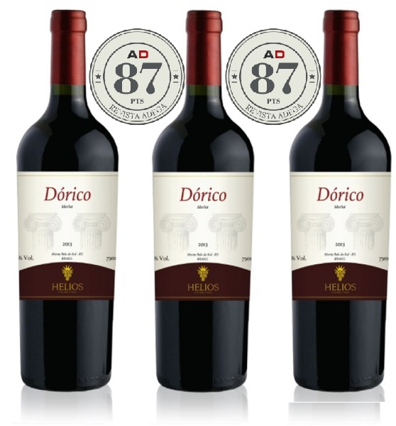 3 Garrafas: Dórico - Dórico - Dórico  - Vinícola Helios