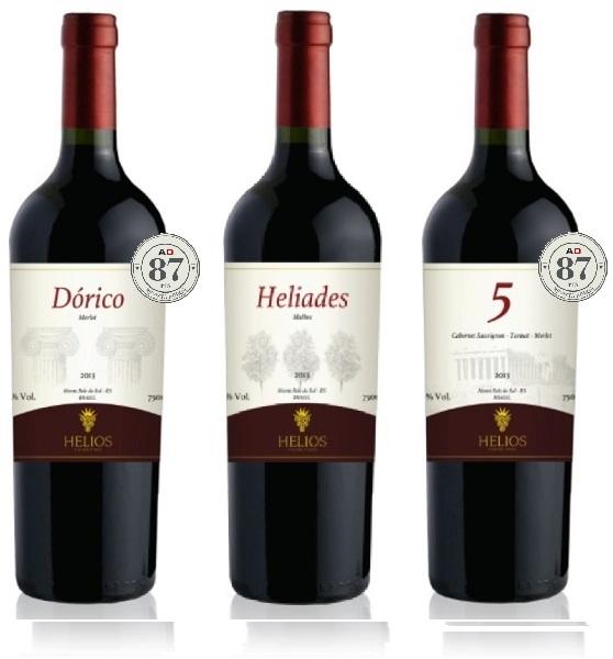 3 Garrafas: Dórico - Helíades - 5  - Vinícola Helios