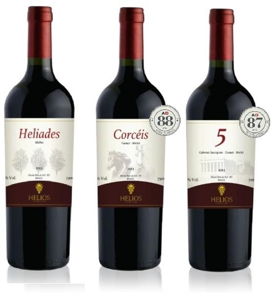 3 Garrafas: Helíades - Corcéis - 5  - Vinícola Helios