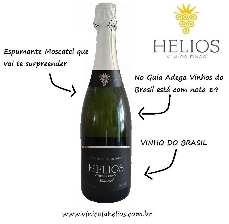 3 Garrafas: Moscatel - Moscatel - Moscatel  - Vinícola Helios