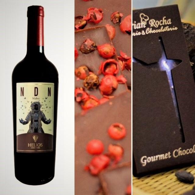 NDN - MALBEC 2013 com chocolate Noir com pimenta rosa   - Vinícola Helios
