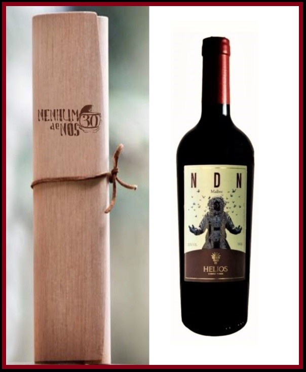 NDN - MALBEC e Caixa de Vinho   - Vinícola Helios
