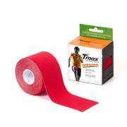 Kinésio Tmax Vermelha - Bandagem Elástica Terapêutica: 5 cm X 5 metros