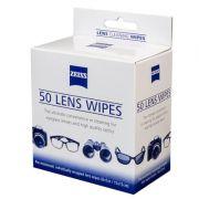 Lens Wipes Zeiss com 50 lenços umedecidos