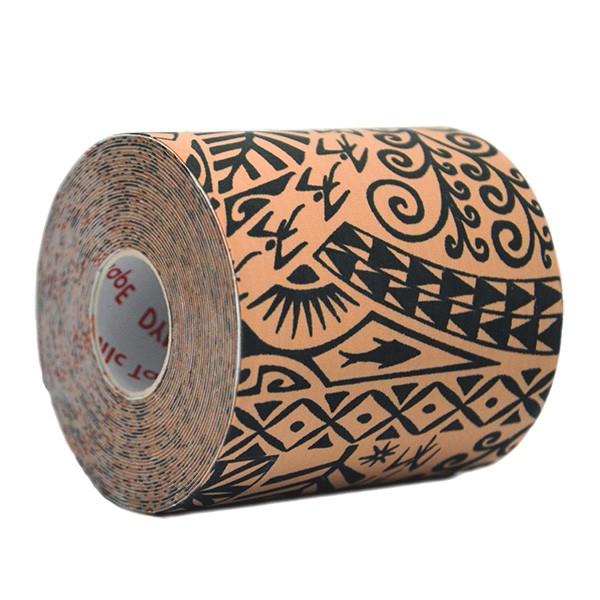 Dynamic Tape Tattoo Preta - Bandagem Biomecânica: 7,5 cm X 5 metros
