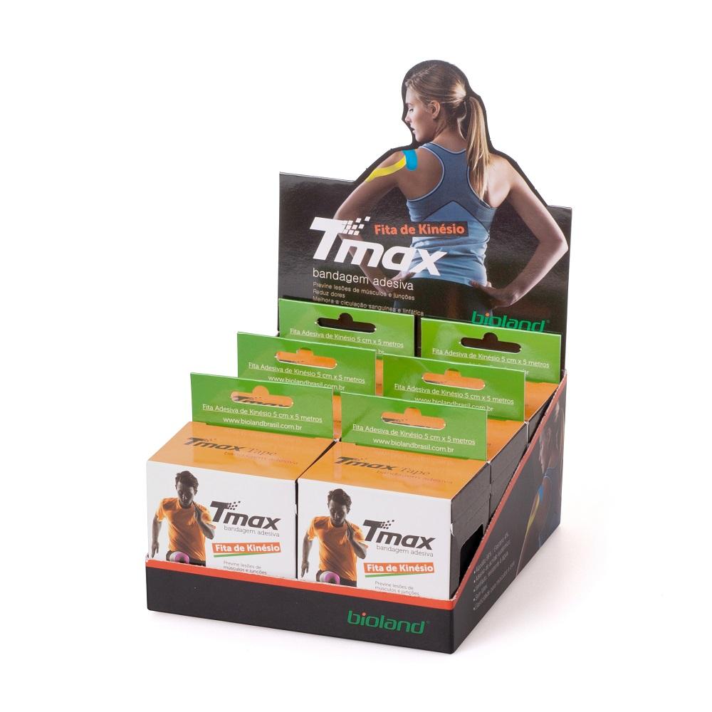 Kinésio Tmax Bege - Bandagem Elástica Terapêutica: 5 cm X 5 metros