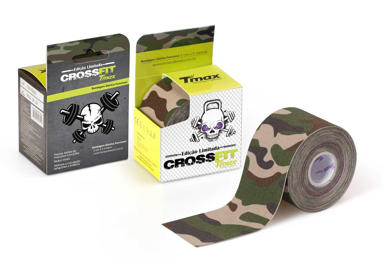Kinesio Tmax Crossfit Verde - Bandagem Elástica Terapêutica 5 cm X 5 metros
