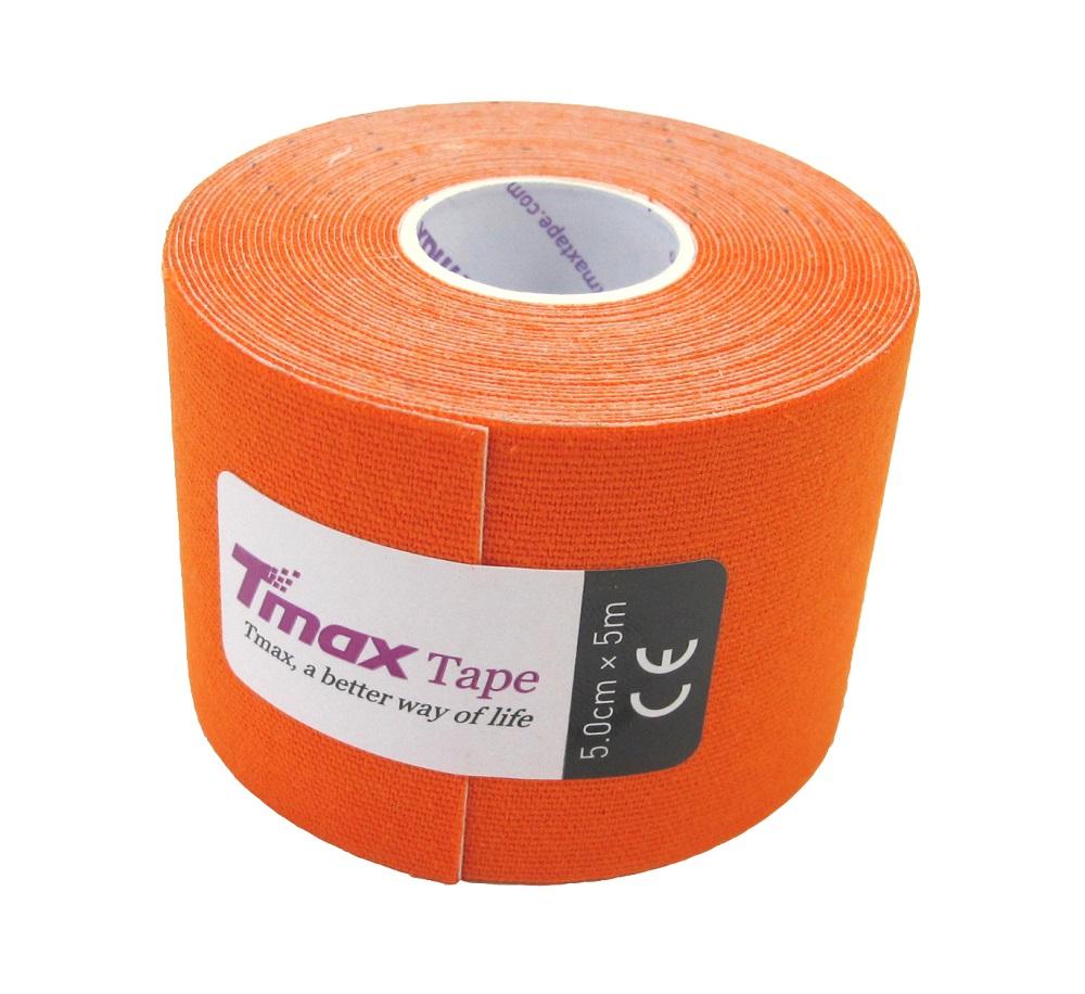 Kinésio Tmax Laranja - Bandagem Elástica Terapêutica: 5 cm X 5 metros