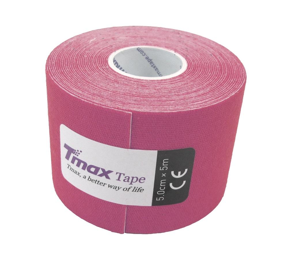 Kinésio Tmax Lilás - Bandagem Elástica Terapêutica: 5 cm X 5 metros