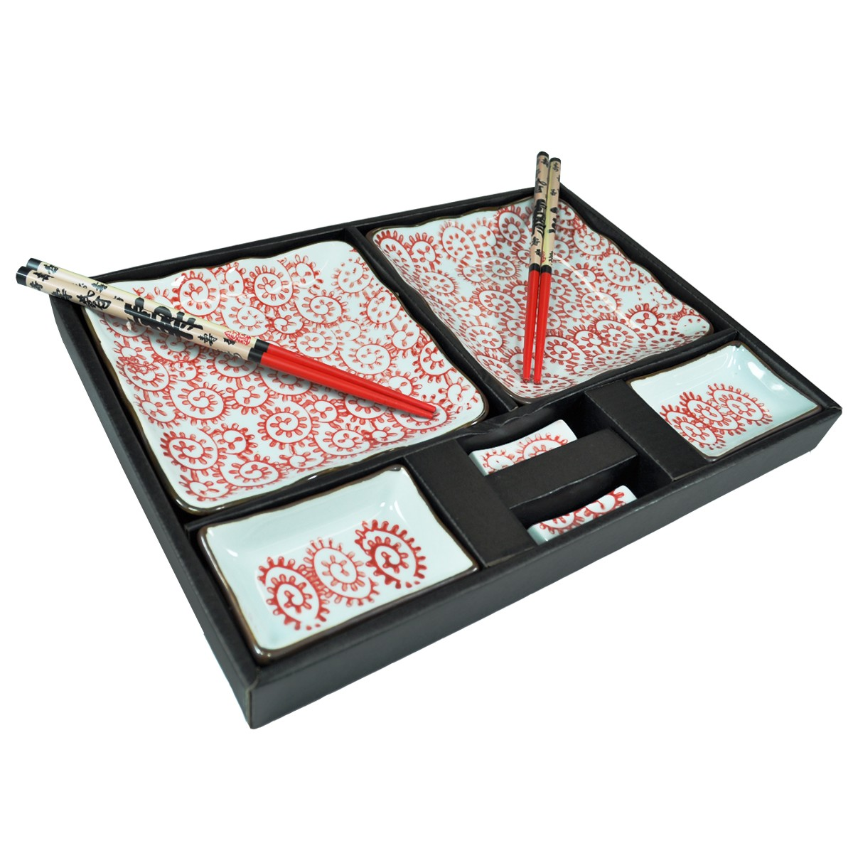 Jogo De Jantar Quadrado Bicolor Cerâmica 30 Pçs Pictures to pin on  #A62B25 1200x1200