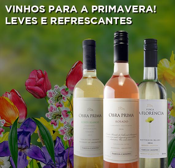 vinhos para a primavera!
