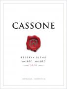 Cassone Reserva Blend Malbec - Malbec 2019