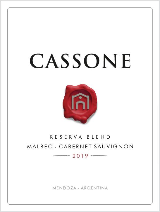 Cassone Reserva Blend Malbec / Cabernet Sauvignon 2019  - Familia Cassone