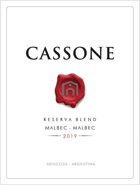 Cassone Reserva Blend Malbec - Malbec 2019  - Familia Cassone