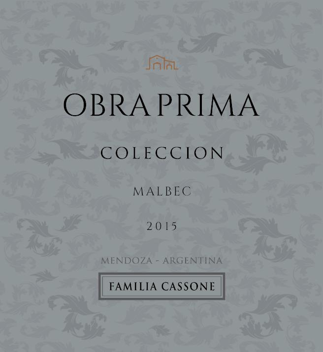 OBRA PRIMA GRAN RESERVA COLECCION MALBEC 2015  - Familia Cassone