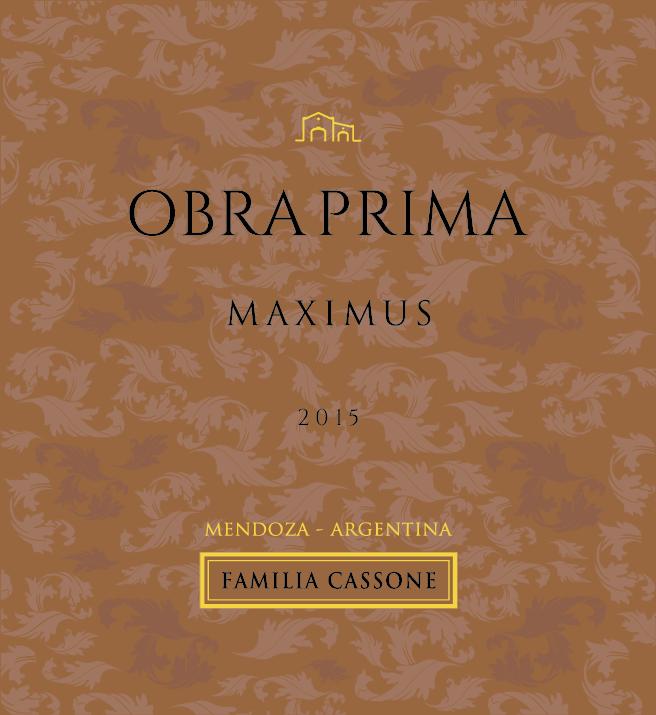 Obra Prima Gran Reserva Maximus  Blend  2015  - Familia Cassone