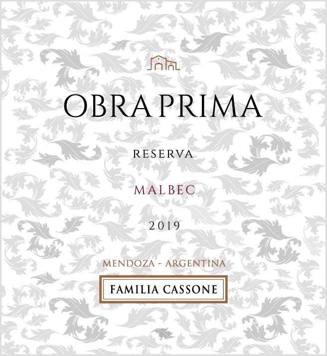 Obra Prima Reserva Malbec  2019  - Familia Cassone